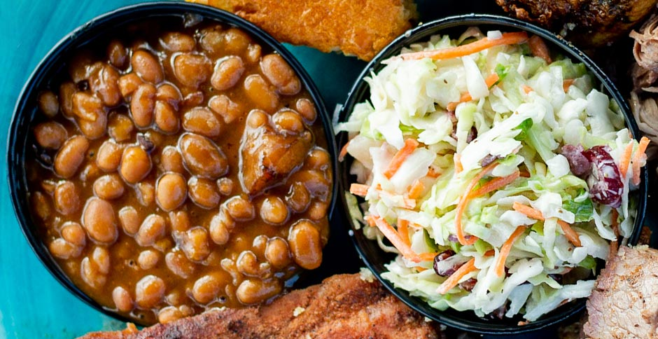 Baked Beans and Coleslaw